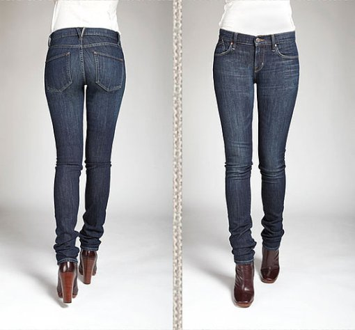 Lou Skinny Jean in Essex Wash, $168  (2)