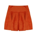 Markus-Lupfer Pleated Knitted Mini Skirt, $440