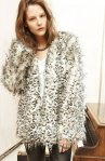 Claris Faux Fur Jacket, Callie Tee, Joy 5 Pocket Faux Leather Pant Crystal Rope Tie Necklace, Snake Ring, 3 Ring Pave Ring Oval Hematite Cocktail Ring