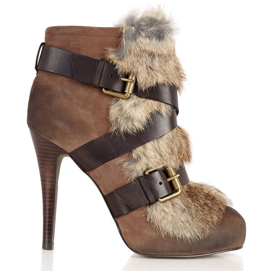 Ash Emma Fur Buckle Boot, $371